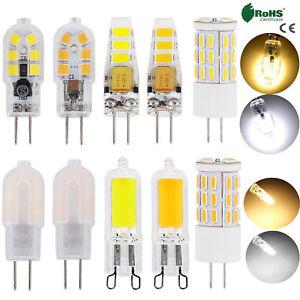 G9 G4 Silicone Crystal LED Corn Bulb Light 3W 4W 6W 8W 2835 SMD Lamp 12V AC 220V