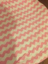 BEAUTIFUL MODERN PINK AND WHITE CHEVRON WAVE STRIPE DUVET COVER NEW