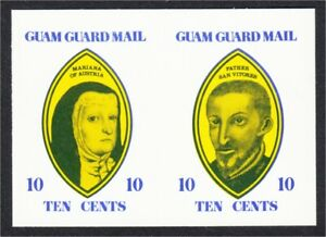 Guam Guard Mail Local Post 1977 Marianas History Imperf Proof Unissued Colors #1