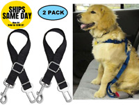 2-PK Cat DOG PET PAW SAFE Seatbelt Car Seat Belt Adjustable Harness Lead 5 STARS