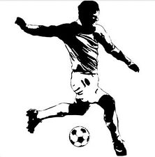 SOCCER PLAYER with ball sports wall stickers MURAL decals 43 inches tall