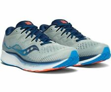 Saucony Ride Iso 2 Grey Blue White Mens Running Shoes Size 12, S20514-1