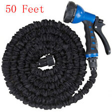 New listing Latex 50 Ft Expandable Flexible Garden Water Hose with 8 Functions Spray Nozzle