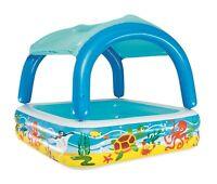 Bestway - Planschbecken mit Dach - Schwimmbecken Kinderpool mit Sonnenschutz