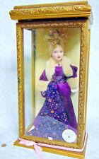 "Vintage 16"" Porcelain CAMELLIA GARDENS DOLL Swarovski Crystal Jewelry Glass Case"