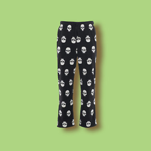 Men's Halloween Craft and Barrow Pajama Microfleece Skull Sleep Pants Small New