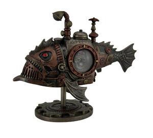 Hand Painted Steampunk Submarine Sci-fi Fantasy Statue