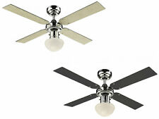 """Ceiling fan light with pull cord Champion Chrome 105 cm 42"""" maple / graphite"""