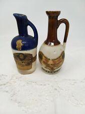 Vintage Miniatures Stoneware Decanters Dolfi Curacao Cazanove Creme Menthe Jars
