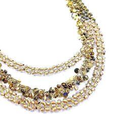 Coldwater Creek Necklace Goldtone Bead Sequins Multi Strands Long Necklace