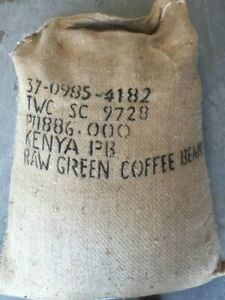 KENYAN PEABERRY raw green coffee beans From $20.25/kg