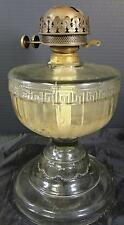 Antique Oversized Roman Key & Ribbed EAPG Kerosene Lamp #1
