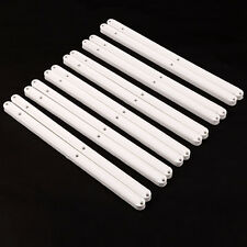 6 pares Guía de cajón armarios Plástico White Plastic Drawer Runners 300mm