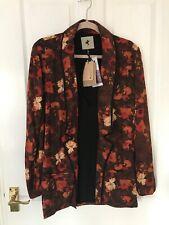 BNWT ONE TEASPOON Brown Orange Havenstock Kimono Jacket, Size 8 (S) RRP £179