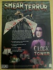 Clock Tower Poster Ad Print Playstation