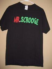 Mr. Scrooge Holiday Black Short Sleeve Tee Shirt M