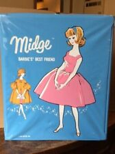Vintage Mattel * Barbie / Midge Blue Case * Clean! No Splits! Very Nice!