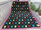 Moroccan Handmade Vintage Rug Azilal Berber Wool Carpet Tribal Beni Ourain Rug