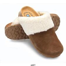 The SANOSAN suede Scuff Slippers Foot Relief Shoes Mens Size 8.5 Euro 38