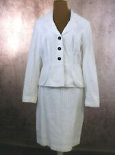 Kay Unger New York White Eyelet 2 piece Skirt Suit size 10 NWT missing belt