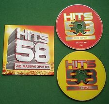 Hits 58 Beyonce Busted Alicia Keys Peter Andre Morrissey Darkness Lemar + 2 x CD