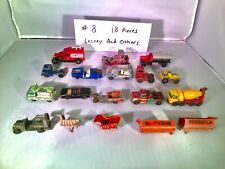 Lesney & Other Toy Brands - Cars - Construction & Service Trucks - Lot Of 18