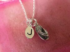 Personalised Sterling Silver Flip Flop Necklace