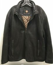 Andrew Marc New York XL Leather Jacket Dark Brown X Large Coat