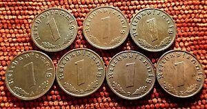 Nazi Pfenning Coins Full Sets of Mints Unique Vintage Listings