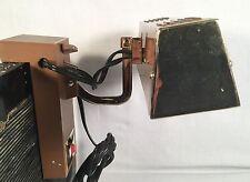 Vtg Industrial ART DECO Brown Metal Headboard Lamp Mid-Century Reading Bed Light