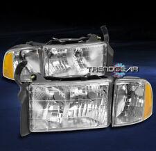 1999-2001 DODGE RAM 1500 SPORT PICKUP HEADLIGHT W/CORNER TURN SIGNAL LAMP CHROME