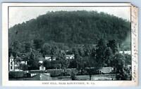 1907 RONCEVERTE WEST VIRGINIA*WV*FOOT HILL*TRAIN*HOUSES*ANTIQUE POSTCARD