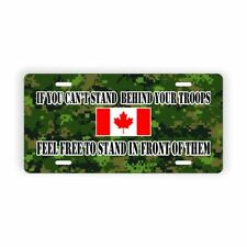 Canada Camo Army Military Troops Support  Vanity Licence Plate Aluminum Plate