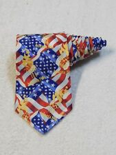 Olympic Games Collection By RM Sports Ralph Marlin Atlanta 1996 Red Necktie Tie