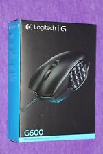 LOGITECH G600 MMO GAMING MOUSE 20 PROGRAMMABLE BUTTONS NEW SEALED US SELLER