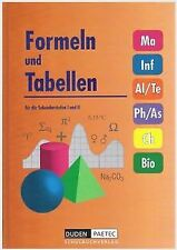 Formeln und Tabellen für die Sekundarstufen I und II. vo... | Buch | Zustand gut