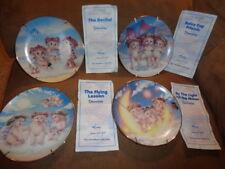 Plate Set Dreamsicles 4 Hamilton Collection 1995 Kristin Flying Recital Moon Lot