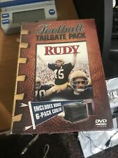 Rudy DVD Football Tailgate Pack-Includes Bonus 6 Pack Cooler -New Sealed