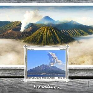 Togo 2021 MNH Landscapes Stamps Volcanoes Sakurajima Bromo Tourism 1v S/S
