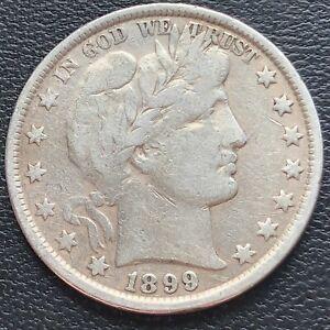 1899 Barber Half Dollar 50c Higher Grade VF + #29302
