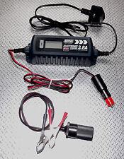 Optimizador Cargador De Batería 4A + Camper Caravana Autocaravana 12v múltiples conexiones