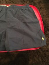 Polo Ralph Lauren Lined Mens Bathing Suit Bottoms Navy w/ Yellow Pony XXL NWT.