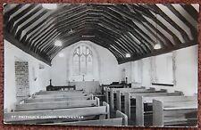 Interior St Swithun's Church Winchester Vintage Photographic Postcard Hampshire