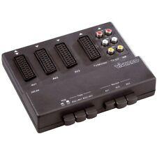 Vivanco SBX 84 3-fach RGB-Scartschaltpult schwarz