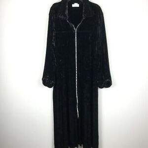 Cabernet Velvet Black Robe Loungewear Women's Size 1X Plus Size