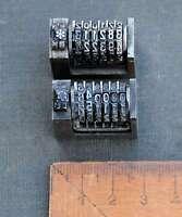 2x Numerierwerk Bleisatz Buchdruck Nummerierwerk Numerierwerke Druck Typographie