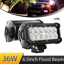 Nilight Led Light Bar 2pcs 36w 65inch Flood Beam Driving Lamps Off Road Atv 4x4