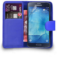 Samsung Galaxy S4 S5 Case Premium Leather Wallet Flip Case S5 Mini