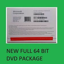 Microsoft Windows 10 Professional 64 Bit System Builder OEM Full DVD New Sealed