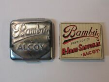 Vintage 1970's BAMBU ALCOY Cigarette Rolling Paper Holder With Papers Marijuana